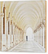 Underneath The Arches Wood Print