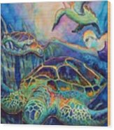 Undersea Adventure Wood Print