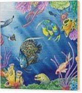 Undersea Garden Wood Print by Gale Cochran-Smith