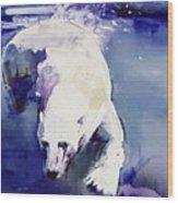 Underwater Bear Wood Print