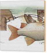 Underwater Wood Print by Kestutis Kasparavicius