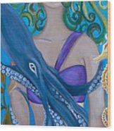 Underwater Mermaid Wood Print