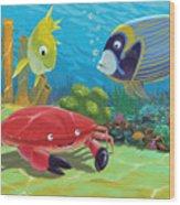 Underwater Sea Friends Wood Print
