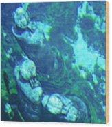 Underwater Statues Wood Print