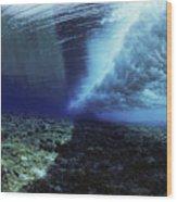 Underwater Wave - Yap Wood Print