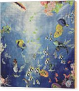 Underwater World II Wood Print by Odile Kidd