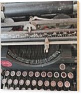 Underwood Typewriter Wood Print