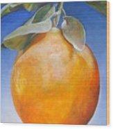 Une Orange Wood Print