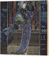 Une Valentine Parisienne Wood Print by Sarah Vernon