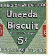 Uneeda Biscuit Vintage Sign Wood Print