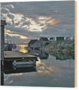 Unesco World Heritage Site - Peggy's Cove - Nova Scotia Wood Print