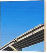 Unfinished Freeway Ramp Wood Print