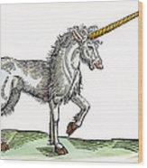 Unicorn, 1607 Wood Print
