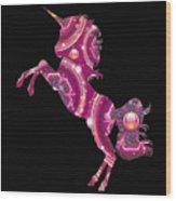 Unicorn Gems Wood Print