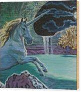 Unicorn Lake Wood Print