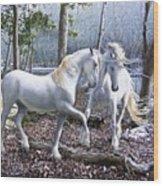 Unicorn Reunion Wood Print