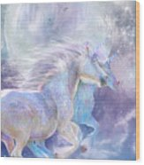 Unicorn Soulmates Wood Print