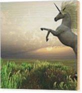 Unicorn Stag Wood Print