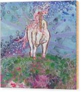 Unicorn Tears Wood Print