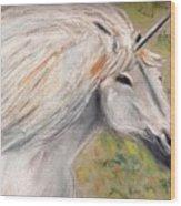 Unicornio Wood Print