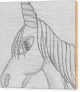 Unicornlove Wood Print