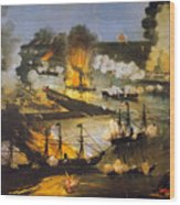 Union Bombardment, 1862 Wood Print
