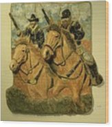 Union Cavalry Wood Print