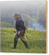 Union Cavalryman On Foot Wood Print