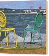 Union Chairs Wood Print