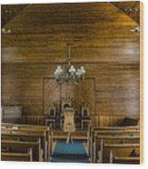 Union Christian Church Sanctuary Wood Print