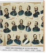 Union Commanders Of The Civil War Wood Print