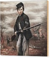 Union Drummer Boy John Clem Wood Print by War Is Hell Store