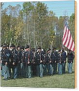Union Infantry March Wood Print