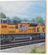 Union Pacific 8690 Wood Print by RB McGrath