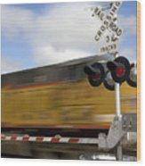 Union Pacific Coal Train Wood Print