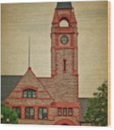 Union Pacific Railroad Depot Cheyenne Wyoming 01 Textured Wood Print