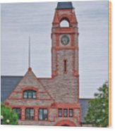 Union Pacific Railroad Depot Cheyenne Wyoming 01 Wood Print