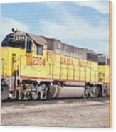 Union Pacific Up - Railimages@aol.com Wood Print