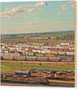 Union Pacific's Bailey Yard Wood Print