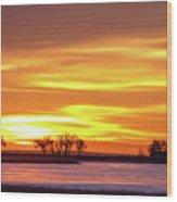 Union Reservoir Sunrise Feb 17 2011 Canvas Print Wood Print