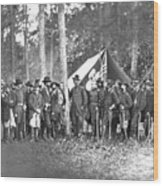 Union Soldiers Wood Print