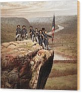 Union Soldiers On Lookout Mountain Wood Print