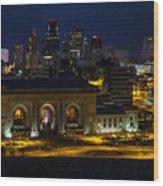 Union Station At Night Wood Print