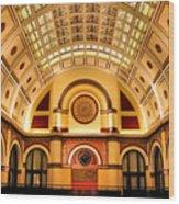 Union Station Balcony Wood Print