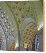 Union Station Ceiling Wood Print