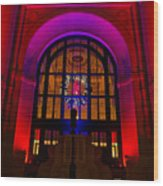 Union Station Decked Out For The Holidays Wood Print