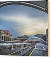 Union Station Denver - Slow Sunset Wood Print