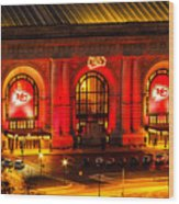 Union Station In Chiefs Red Wood Print