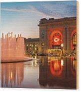 Union Station Kansas City Chiefs Wood Print