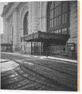 Union Station Kansas City In The Snow Wood Print